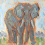 Picture of my unfinished elephant painting.